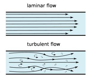 Laminar flow with ggplot2 and gganimate